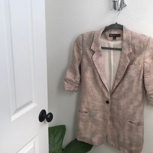 Elizabeth and James Linen Blazer 6 M